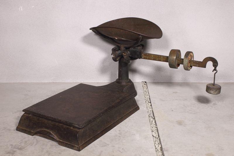 画像1: VINTAGE PLATFORM SCALE ヴィンテージ 量り 台秤 スケール / アメリカ アイアン 鋳物