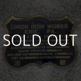 VINTAGE UNION IRON WORKS ヴィンテージ 看板 鉄工所 アメリカ / インテリア ガレージ コレクタブル
