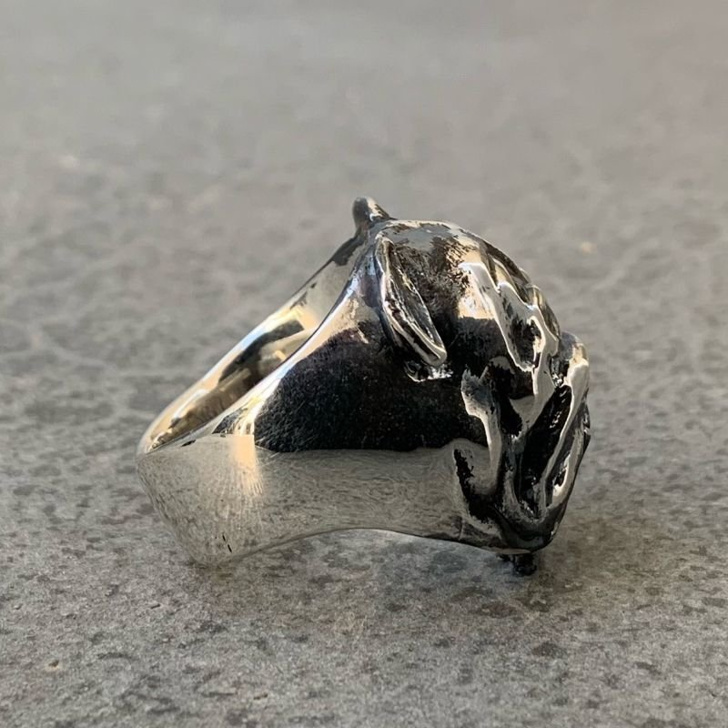 画像2: RUST LEATHER BULLDOG BOSS RING ラストレザー オリジナル ブルドッグ リング シルバー 925 スターリング ボス 指輪
