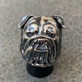 RUST LEATHER BULLDOG BOSS RING ラストレザー オリジナル ブルドッグ リング シルバー 925 スターリング ボス 指輪