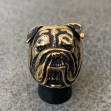 RUST LEATHER BULLDOG BOSS RING ラストレザー オリジナル ブルドッグ リング ブラス 真鍮 指輪