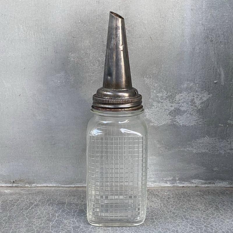 画像2: VINTAGE THE MASTER MFG. CO. ヴィンテージ ガラス瓶 オイル入れ アメリカ / モーター系 ガレージ 雑貨