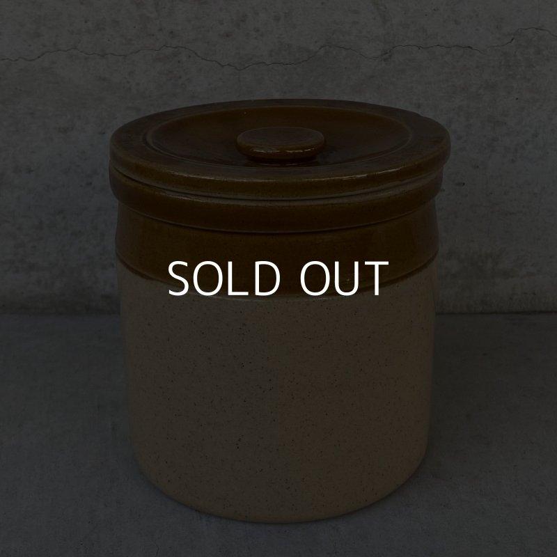 画像1: VINTAGE ENGLAND ヴィンテージ キャニスター 陶器 イングランド / キッチン インテリア 保存容器 小物入れ 食器