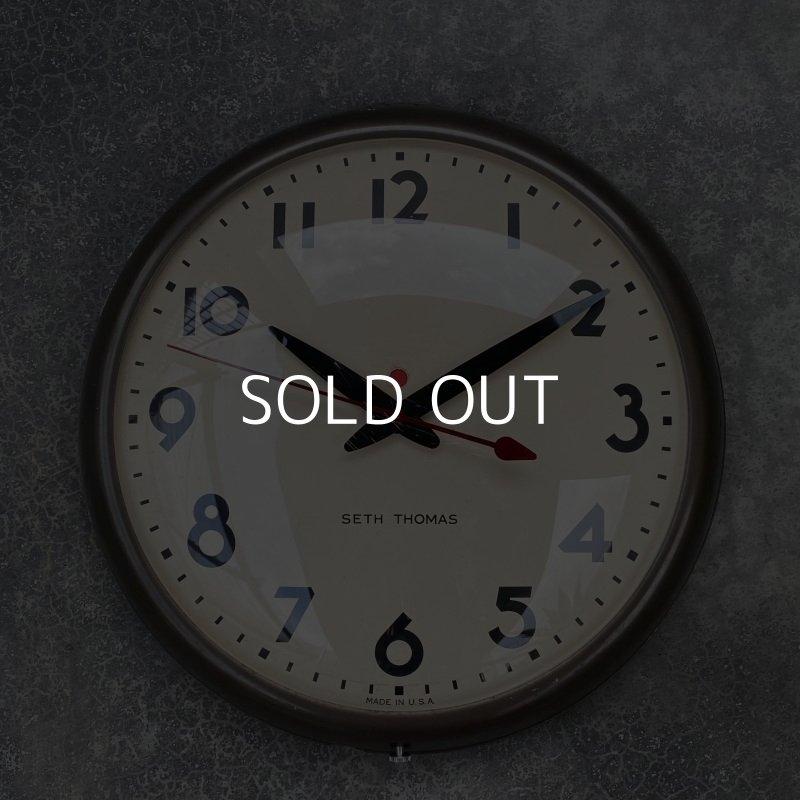 画像1: VINTAGE SETH THOMAS ヴィンテージ セストーマス ウォールクロック / アメリカ スクールクロック 掛け時計
