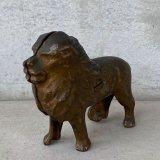 VINTAGE COINBANK PIGGY BANK LION ヴィンテージ 貯金箱 コインバンク ライオン アメリカ / コレクタブル オブジェ 動物