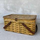VINTAGE ANTIQUE TIN BASKET ヴィンテージ バスケット アメリカ / インテリア アウトドア 収納 缶 BOX