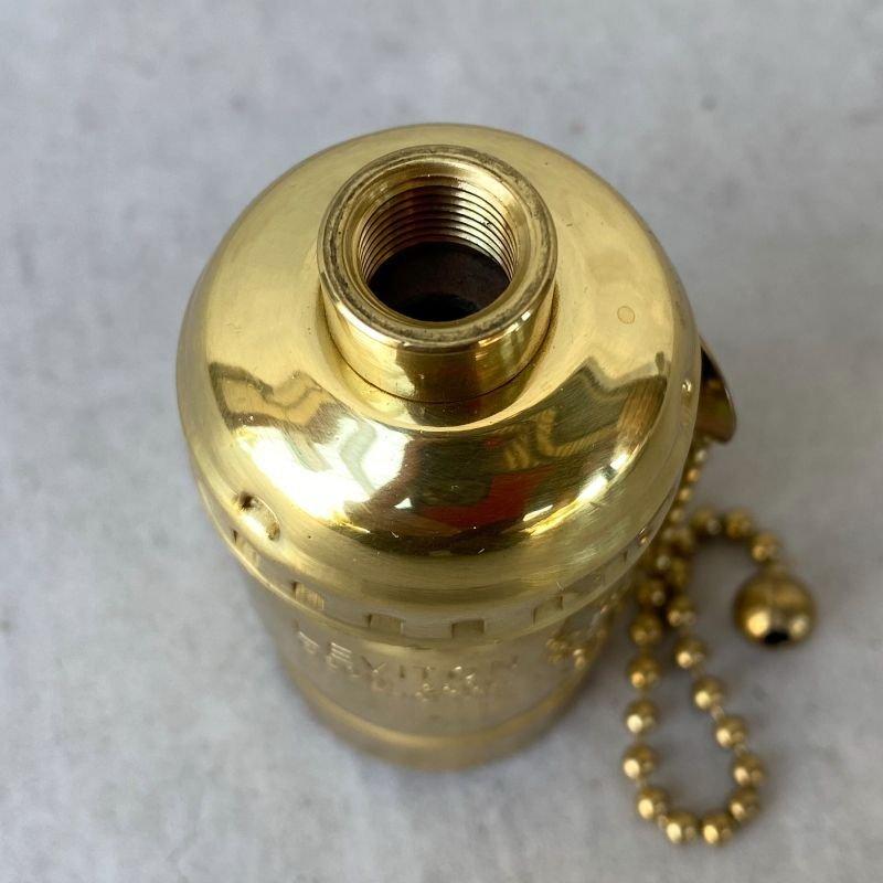 画像3: LEVITON LAMP SOCKET レビトン ソケット プルチェーンスイッチ ブラス / ランプ ライト 照明 リペアパーツ
