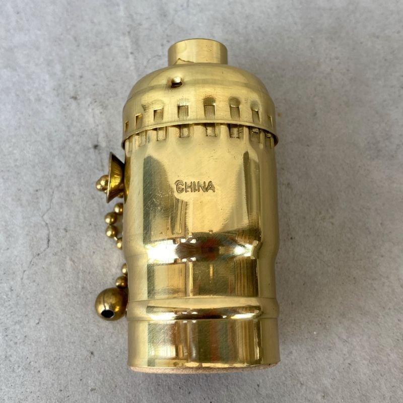 画像2: LEVITON LAMP SOCKET レビトン ソケット プルチェーンスイッチ ブラス / ランプ ライト 照明 リペアパーツ