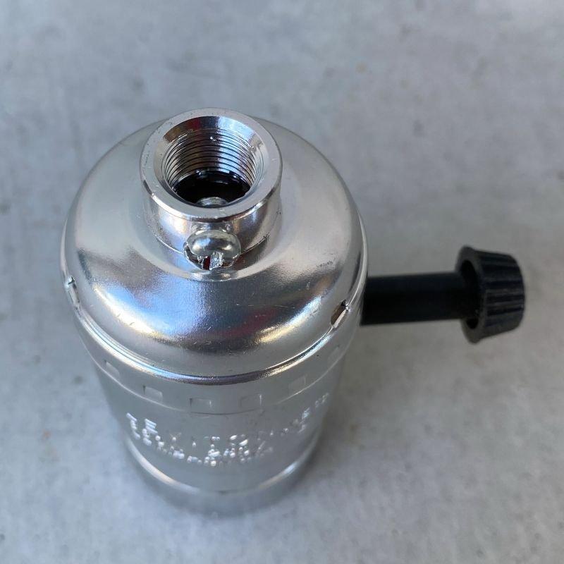 画像3: LEVITON LAMP SOCKET レビトン ソケット ターンスイッチ 【シルバー】 / ランプ ライト 照明 リペアパーツ