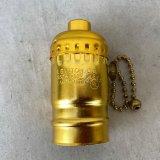 LEVITON LAMP SOCKET レビトン ソケット プルチェーンスイッチ / ランプ ライト 照明 リペアパーツ 真鍮色