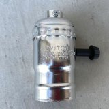 LEVITON LAMP SOCKET レビトン ソケット ターンスイッチ 【シルバー】 / ランプ ライト 照明 リペアパーツ