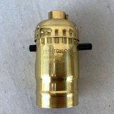LEVITON LAMP SOCKET レビトン ソケット プッシュスイッチ ブラス / ランプ ライト 照明 リペアパーツ