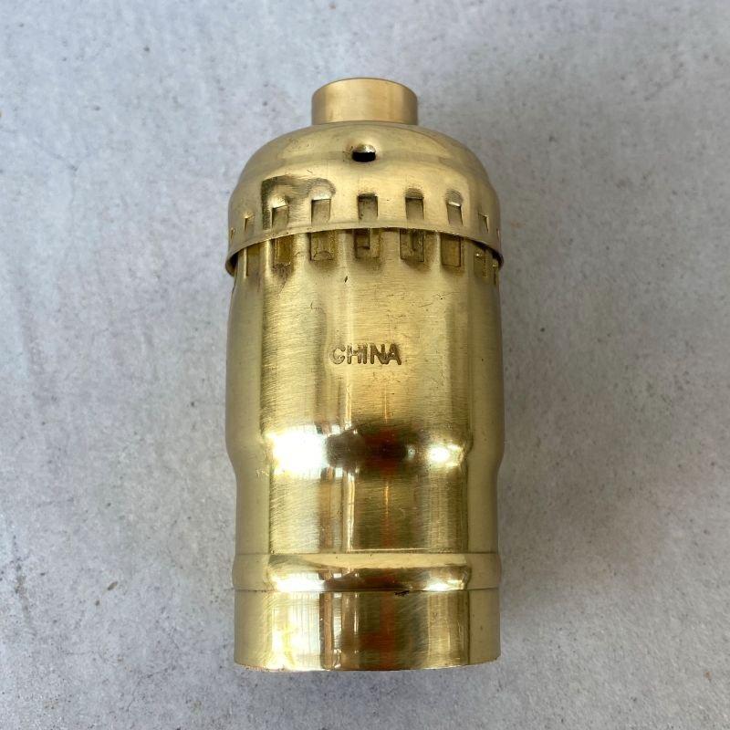 画像2: LEVITON LAMP SOCKET レビトン キーレス ソケット ブラス / ランプ ライト 照明 リペアパーツ