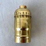 LEVITON LAMP SOCKET レビトン キーレス ソケット ブラス / ランプ ライト 照明 リペアパーツ