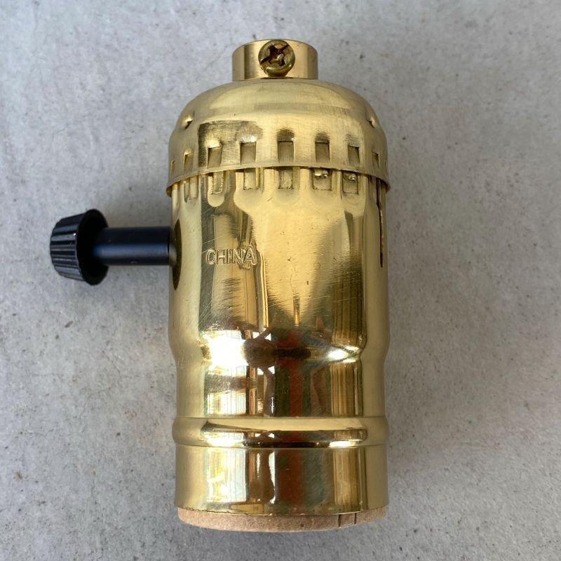 画像2: LEVITON LAMP SOCKET レビトン ソケット ターンスイッチ ブラス / ランプ ライト 照明 リペアパーツ