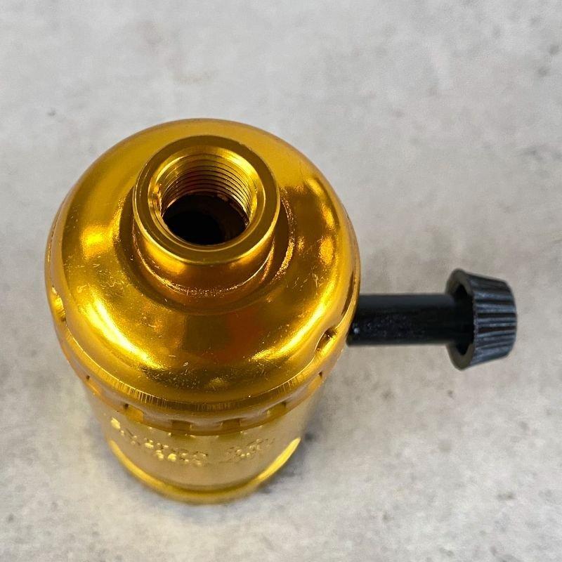 画像3: LEVITON LAMP SOCKET レビトン ソケット ターンスイッチ  / ランプ ライト 照明 リペアパーツ 真鍮色
