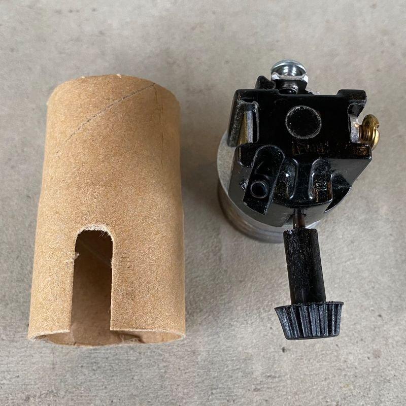 画像4: LEVITON LAMP SOCKET レビトン ソケット ターンスイッチ  / ランプ ライト 照明 リペアパーツ 真鍮色